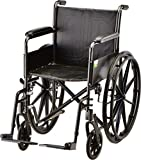 """NOVA 18"""" Steel Wheelchair with Fixed Arms & Footrests"""