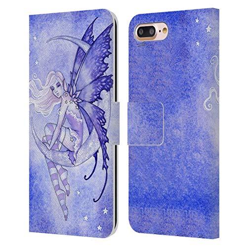 Head Case Designs Licenciado Oficialmente Amy Brown FAE de la Luna Pixies Carcasa de Cuero Tipo Libro Compatible con Apple iPhone 7 Plus/iPhone 8 Plus