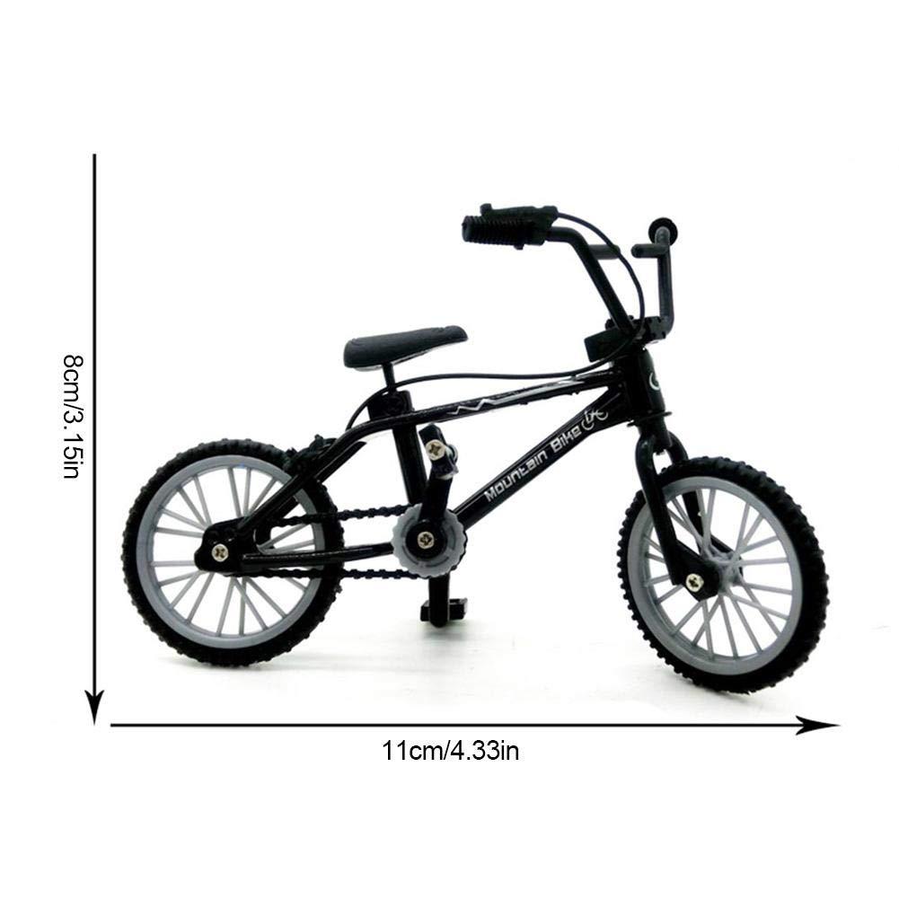 HJUI 2 Piezas de Bicicletas de Juguete de Dedo, Mini Bicicleta de Dedo, Scooter de Dedo, Juguetes de Metal en Miniatura Bicicleta de Dedo Juguetes de Bicicleta creativos para niños niños Well-Suited: