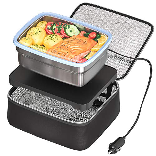 Skywin Road Portable Oven and Lunch Warmer - Personal Food Warmer for reheating meals in Car & Truck without an office microwave - 12V Car Charger