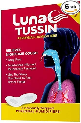 LunaTussin Personal Humidifier Strips, Helps with Nighttime Coughing, Allergies, Dry Nose, Dry Throat, for a Better Sleep (6 Pack)