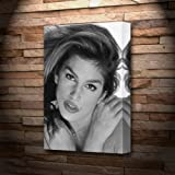 CINDY CRAWFORD - Canvas Print (A5 - Signed by the Artist)