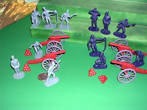 20 piece Civil War Artillery Playset: includes 1:32 Figures and Cannon