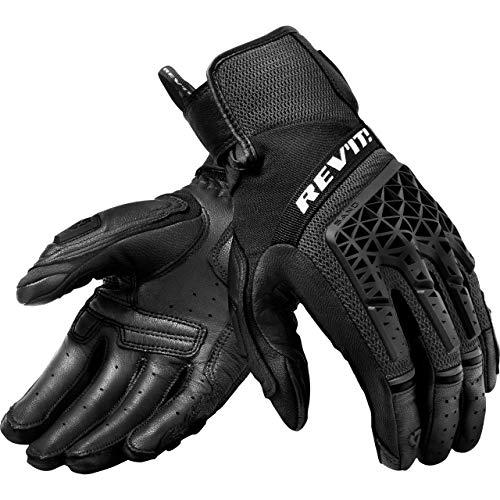 REV'IT! Motorradhandschuhe kurz Motorrad Handschuh Sand 4 Handschuh schwarz XS, Herren, Tourer, Ganzjährig, Leder/Textil