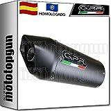 GPR SC.CAT.3.FCB TUBO DE ESCAPE CATALIZADO FURORE CARBONO COMPATIBLE CON HONDA SILVER WING 600 2001 01 2002 02