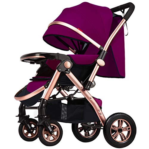 Why Should You Buy JAD@ High Landscape Baby Stroller Can Sit Reclining Lightweight Folding Four-Whee...