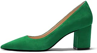 JOY IN LOVE Pumps for Women Chunky Heels Comfortable Middle Block Heel Work Dress Pumps