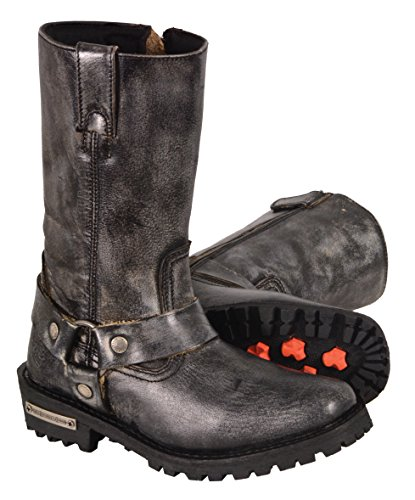 Milwaukee Leather Women's Harness Square Toe Boots