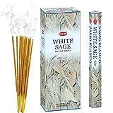 Hem 8901810014763 White Sage Hexa Incense Sticks, 6Packs X 20 Sticks=120 Sticks