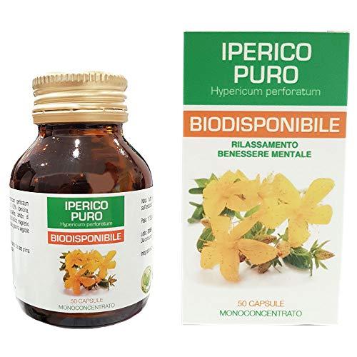 Iperico Puro Biodisponibile Integratore Erba di San Giovanni 50 Capsule vegetali da 350 mg