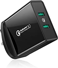 UGREEN Quick Charge 3.0 USB Charger, 36W QC 3.0 Wall Charger Adapter FCP USB Fast Charge for iPhone X 8, ipad, Samsung S9 S9+ S8 S8+ S7, Huawei Mate 10 P10, Oneplus 5T, Nexus 5X 6P etc - Black