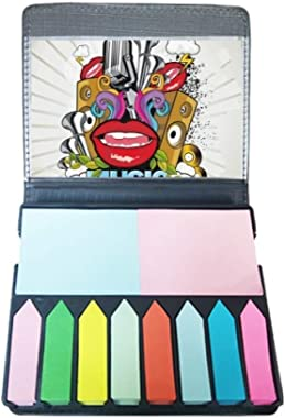Graffiti Street Colorful Mouth Stereo Self Stick Note Color Page Marker Box