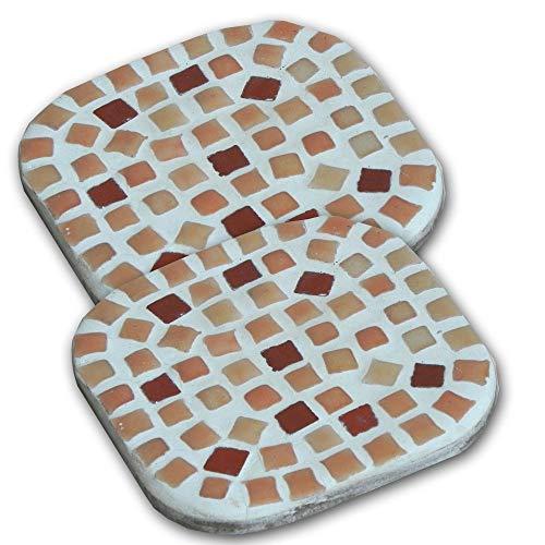 ALEA Mosaic Kit de mosaique, 10X10cm, 2 Dessous de Tasse Orangé Saumon