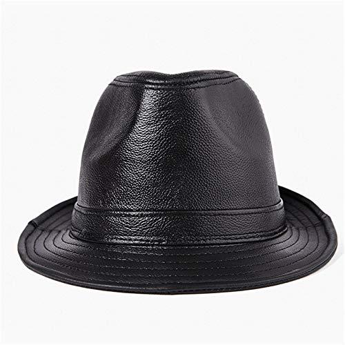 QFWM Sombrero unisex para hombre, boina de fiesta, sombrero de gngster, sombrero de gngster, accesorios de disfraz, sombrero de piel de edad media y vieja (color: negro, talla: XXL)