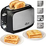 The Original Impression Toaster - Make Breakfast Fun w 4 Interchangeable Design Plates- Rainbow, Flower, Heart and Sun Emoji Patterns