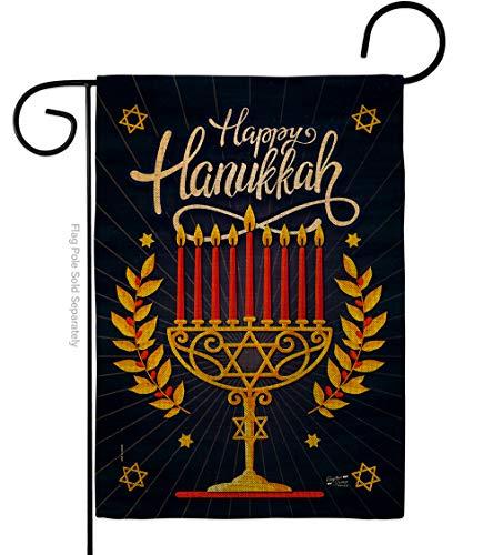 Jewish Festival Garden Flag Winter Hanukkah Decorative Gift Yard House Banner