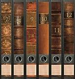 6er Set Ordnerrücken für schmale Ordner Bücher 7-12 Lexikon Ordner Aufkleber Etiketten Deko AJ 610