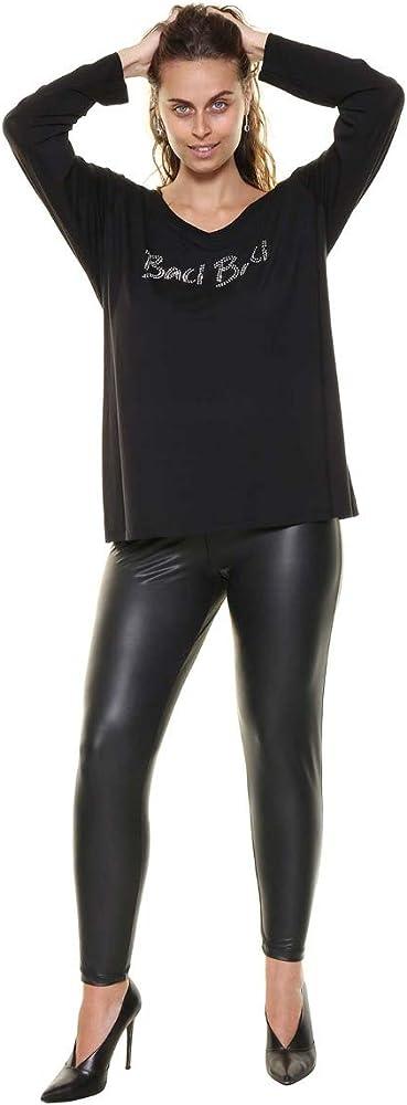 Sophia curvy, leggins termici in ecopelle per donna