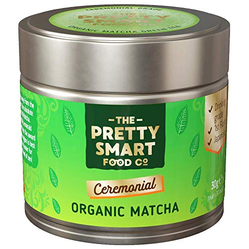 Organic Matcha Green Tea Powder Ceremonial Grade | Japanese Premium Matcha Tea | First Harvest Single Source Leaf | Grade AAA | Pure Flavour | 30g