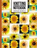 Knitting Graph Paper Notebook: Cute Knitters Journal with Sunflowers (Beautiful Knitting Gifts for Knitters)