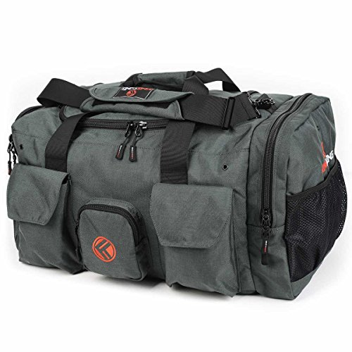 "King Kong Giant Kong Original Nylon Gym Bag - Large Heavy Duty and Water-Resistant Duffle Bag - Military Spec Nylon- Heavy Duty Steel Buckles - 22"" x 13.5"" x 13"" - Charcoal"