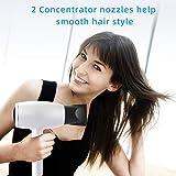 Haartrockner, MANLI ionen Haartrockner Föhn Mini-Größe Haartrockner leistungsstarker power mit Fön Diffusor StylingDüse für Familie Reisen Frauen und Männer - 5