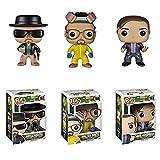 3 Piezas Breaking Bad White # 160 Heisenberg # 162 Saul Goodman # 163 Colección Figura De Acción Juguetes Decoración De Muñeca De Vinilo 10Cm