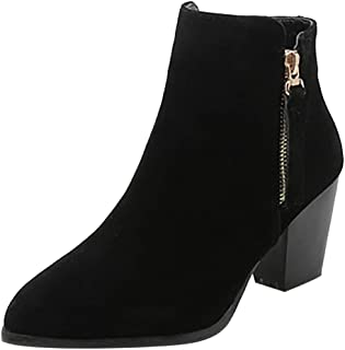 Fashion Retro Womens Flats Comfortable Low-heeled Non-Slip Shoe Short Ankle Boot