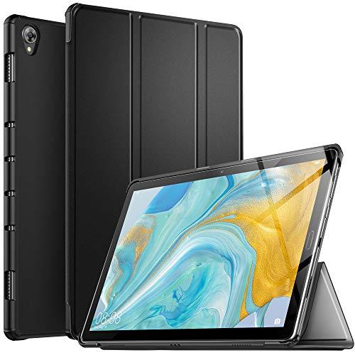 IVSO Hülle für Huawei MediaPad M6 10.8, Ultra Schlank Slim Schutzhülle Hochwertiges PU mit Standfunktion Ideal Geeignet für Huawei MediaPad M6 10.8 2019 Modell, Schwarz