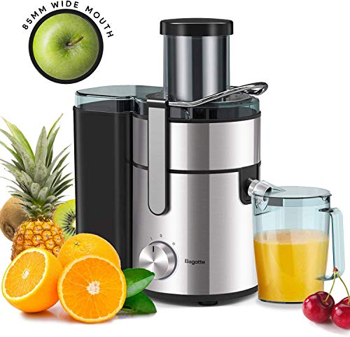 Juicer, Bagotte Upgrade 800W Juicer Machine, 3.3' Wide Mouth Juicers Whole Fruit...