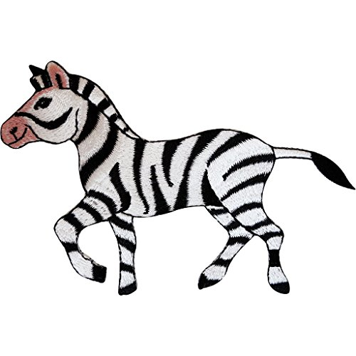Zebra hierro bordado en insignia Sew On patch Animal ropa bordado Applique