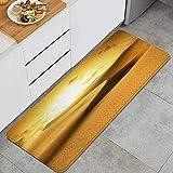 VINISATH Desierto de Oro al Atardecer. Canarias,Canarias Alfombrillas de Cocina Antideslizantes Felpudo Lavable Juego de Alfombras de Microfibra