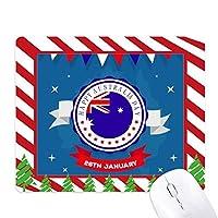 オーストラリアの味のオーストラリアの日の旗 ゴムクリスマスキャンディマウスパッド