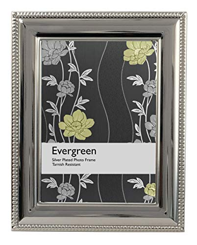 Viceni Cornice Placcata Argento con Bordo Rifinito a Treccia, 15x20 cm