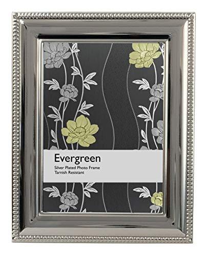 Evergreen EG-BEAD-57 - Marco fotos, 13 x 18 cm, color plateado