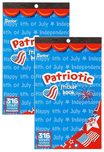 2 Books of PATRIOTIC USA Mini Stickers 632 total - 4th of JULY - Memorial Day ARTS & Crafts