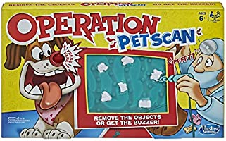 OPERATION - Pet Scan Board Game with Silly Sounds - Remove the Objects or Get the Buzzer - 2+ Players - Kids Board Games...