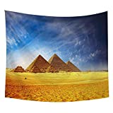 NC153 Egipto Torre Tapiz Colgante de Pared pirámides Naturaleza Sol decoración del hogar Tapiz Tapiz para Sala de Estar 150 × 100 cm