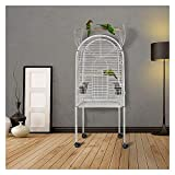ZHUANQIAN Jaula para pájaros, 1 jaula grande de acero bajo en carbono, jaula...