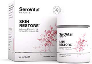 SeroVital Skin Restore, Healthy Skin Supplement with Ceramides and Hyaluronic Acid, 60 Count