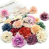 30 Stück Künstliche Blumen, Bunt Kunstblumen Köpfe 5,5cm, Seide Kunstblumen Seidenblumen Köpfe Deko for Basteln Scrapbooking Hochzeit Party Home Deko