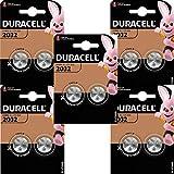 Duracell Batteria a bottone al litio CR2032, 3 V, nera, confezione da 5 (5 x 2)