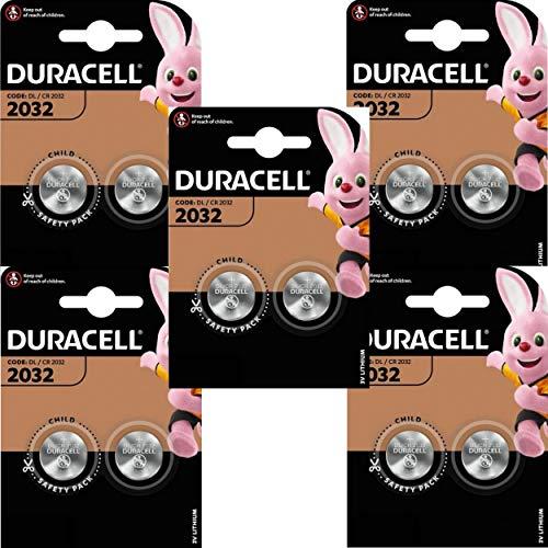 Duracell 2032 CR2032 Lithium-Batterien, 10 Stück