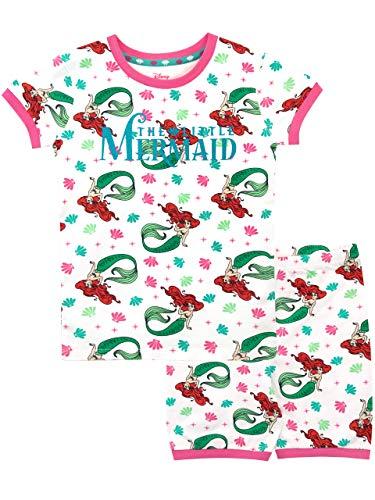 Disney Mädchen Arielle, die Meerjungfrau Schlafanzug Weiß 116
