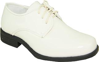 Vangelo Boy Tuxedo Shoe TUX-1K Square Toe for Wedding and Formal Event Wrinkle Free