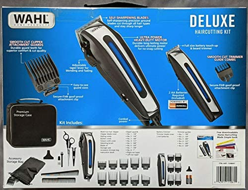 WAHL Deluxe Complete Hair Cutting Kit 29 Piece Clipper Set with Beard Trimmer Retail 125 BY product image