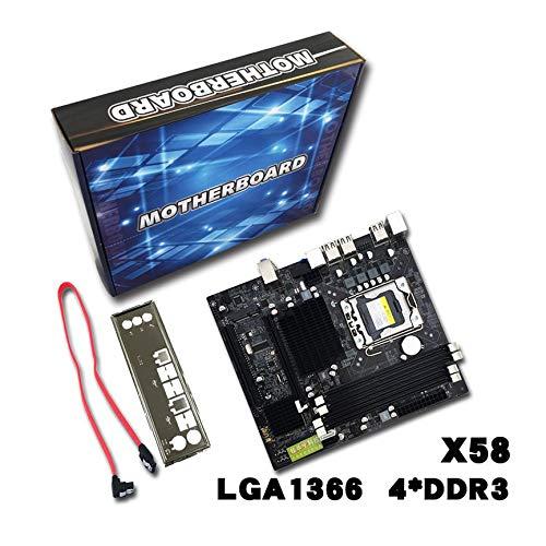Peanutaoc Professionele Desktop Computer Moederbord X58 Board LGA 1366 Pin ECC Alle Solid Moederbord Ondersteuning L/E5520 X5650