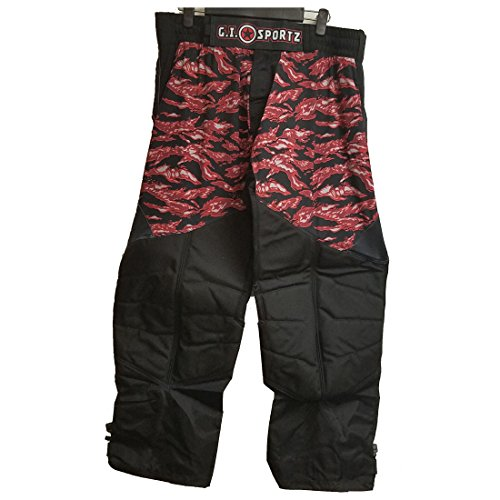 GI Sportz Glide Performance Paintball Pants (Tiger Crimson, Small)