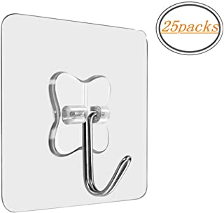 MOKARO Wall Adhesive Heavy Duty Hooks - Value Pack Large Utility Hooks Without Nails,Clear Hanging Hooks Value Pack for Kitchen Bathroom Office Decorations