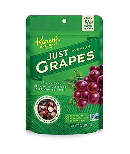 Karen's Naturals Just Tomatoes, Just Grapes 3 Ounce Pouch (Pack of 4) (Packaging May Vary)